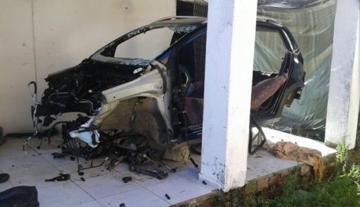 Desmanche de carros é localizado na Redinha (Foto: Sesed/assecom)