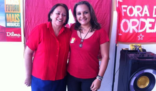 Senadora Fátima Bezerra e a pré-candidata a vereadora Priscila