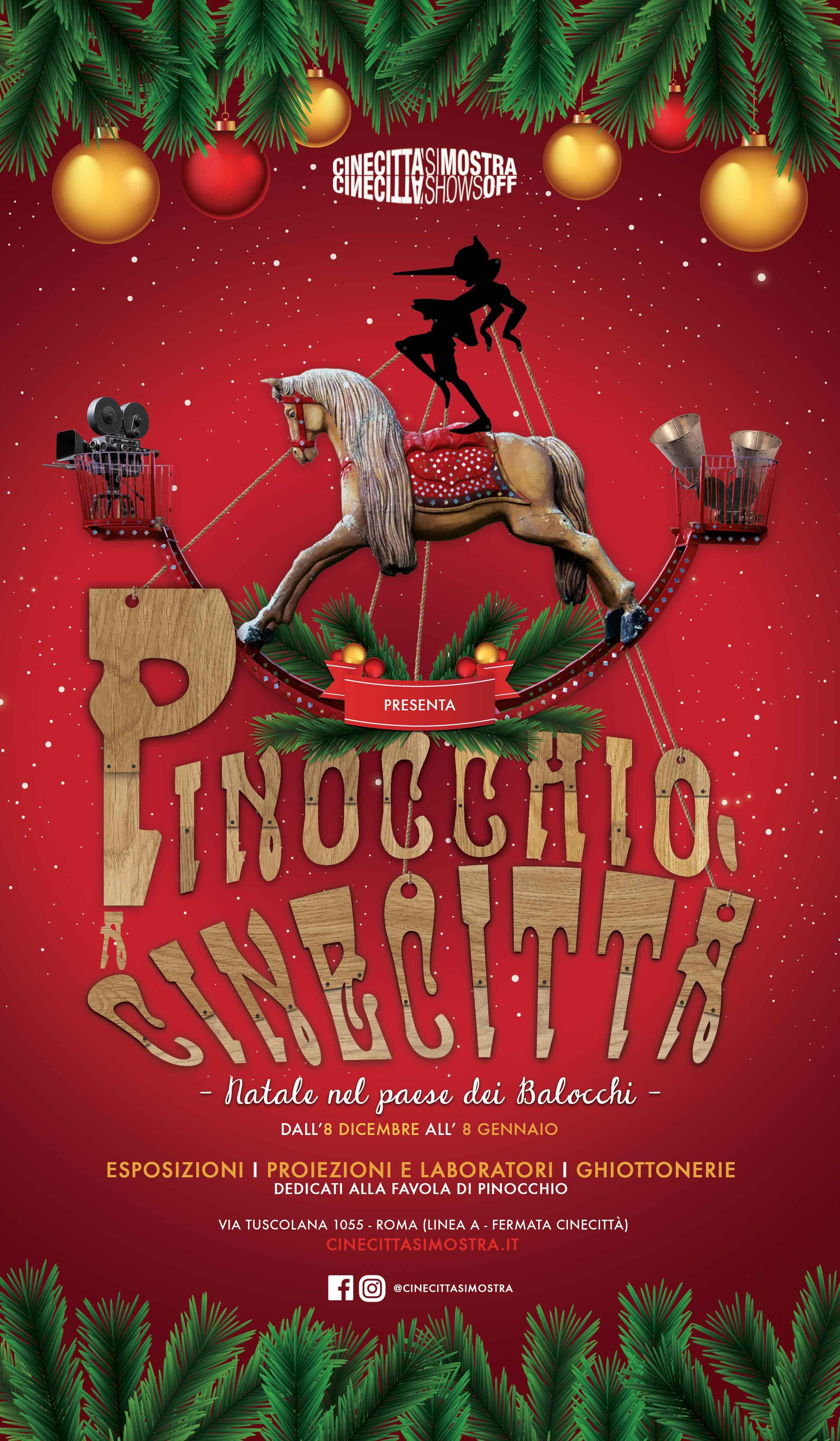 Regali di Natale: una gita a Cinecittà con Pinocchio