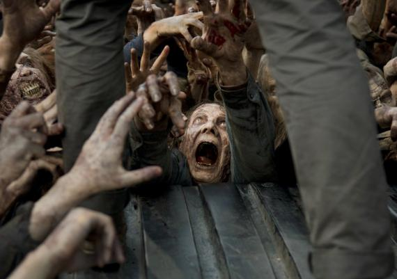 Imagen de un caminante en la sexta temporada de The Walking Dead