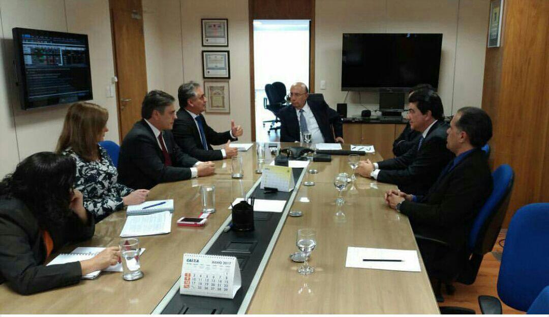 Em Brasília, Cartaxo, Cássio e Manoel Júnior se reúnem com ministro da Fazenda