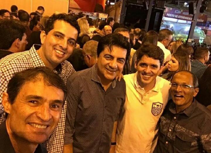 Romero Rodrigues recebe Manoel Júnior no maior São João do Mundo