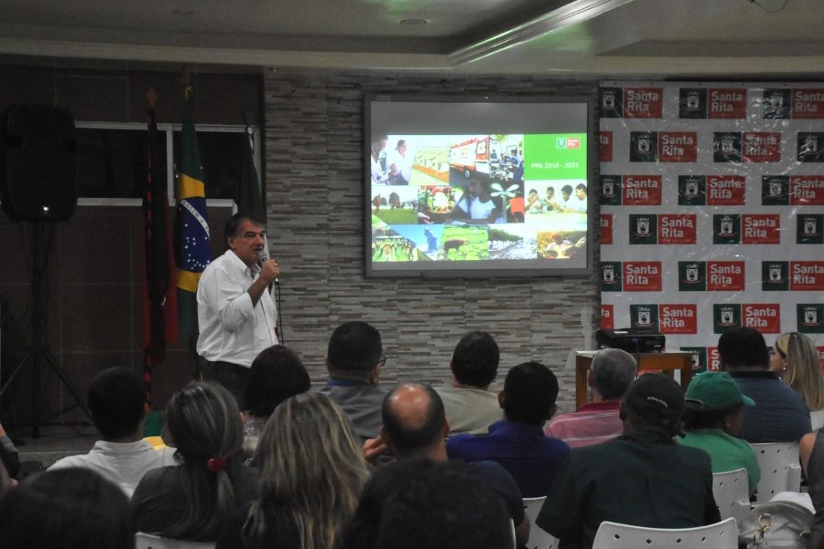 Santa Rita recebe sua primeira audiência pública realizada pelo Executivo Municipal