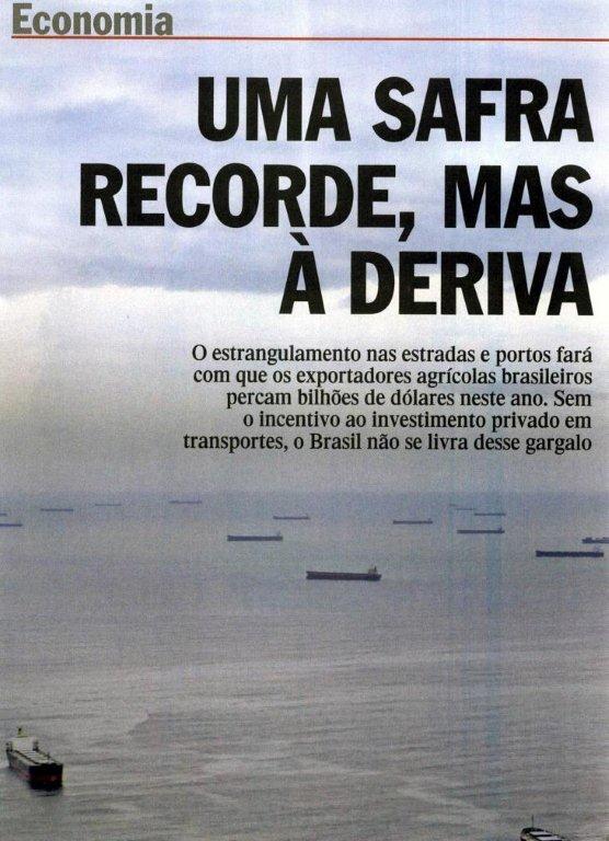 Safra recorde à deriva