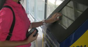 A GCash customer makes a cash-in transaction using MEPS Automated Payment Machine