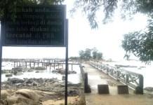 Plang Nama Pulau Simping Diakui PBB sebagai Pulau Terkecil di Dunia