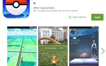 Download Pokemon Go via Google PlayStore