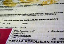 Ilustrasi Surat Keterangan Catatan Kepolisian (SKCK)