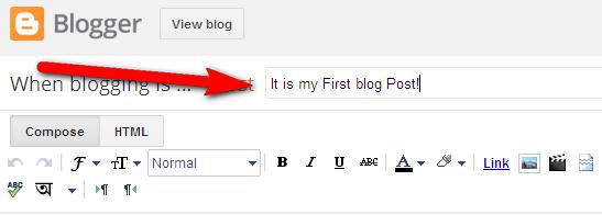 create site on blogger - make new post