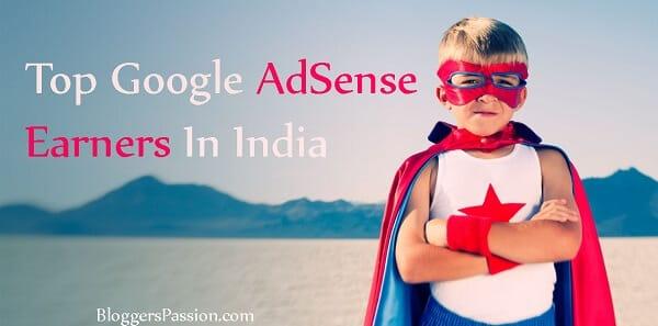 Bloggers with maximum Google Adsense Earnings