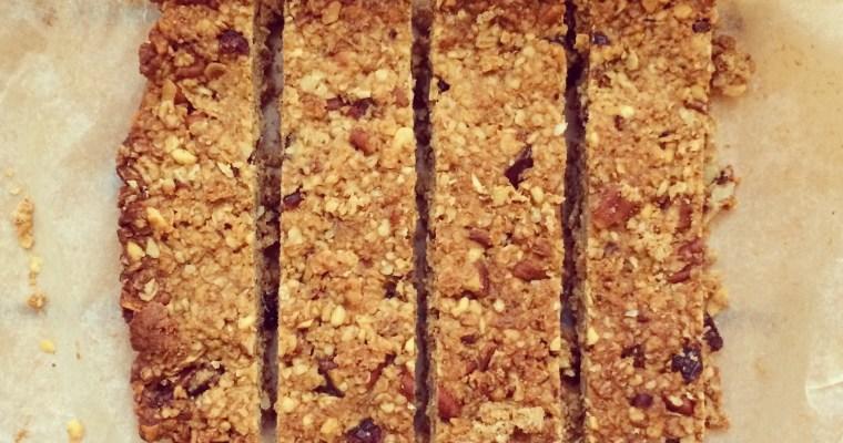 Honey, Pecan & Cranberry Granola bars