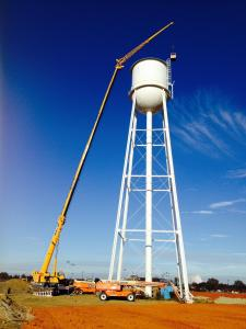Elevated Water Tower Painting - Custom Coatings Inc
