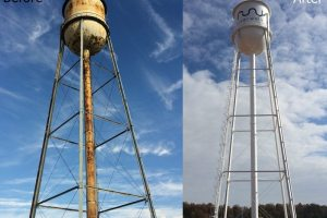 Elevated Water Tower Painting