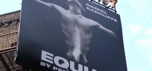 Publicidad de Equus en Broadway