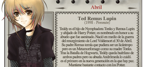 Teddy Lupin - Mago del mes Abril