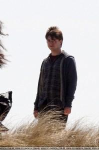 Daniel Radcliffe filmando escenas de Harry Potter