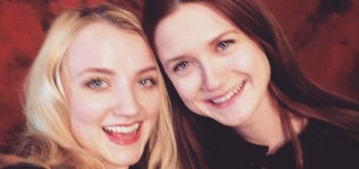 Evanna Lynch y Bonnie Wright en Paris