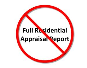 Freddie-waives-full-residential-appraisal-report-purchase-loan-transaction