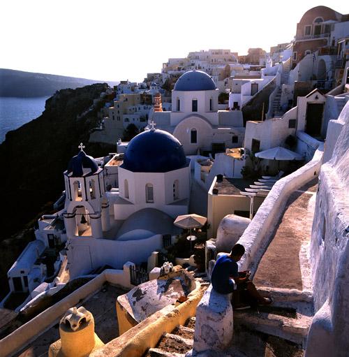 Santorini de manhã