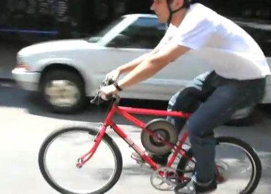 Bicicleta con volante de inercia