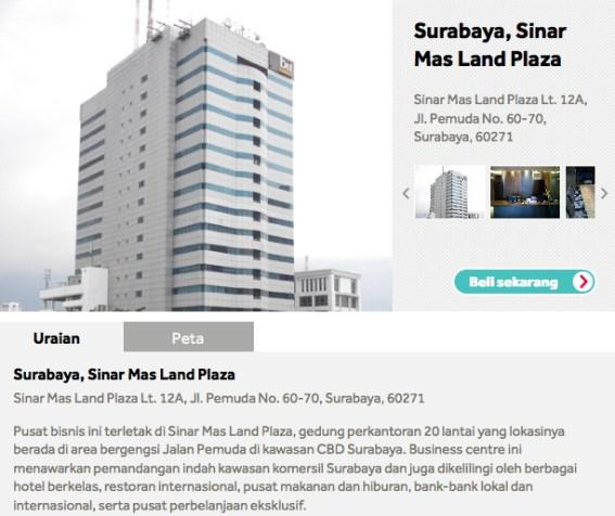 Sewa Kantor Virtual di Surabaya Sinar Mas Land Plaza