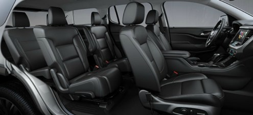 Seating capacity of the 2018 GMC Acadia 2018 GMC Acadia 6 passenger configuration