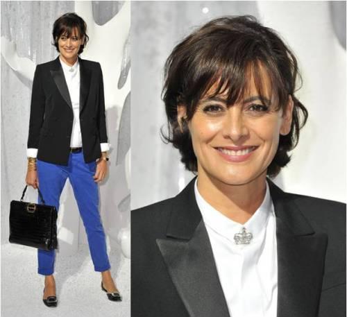 Ines de la Fressange at Chanel SS12
