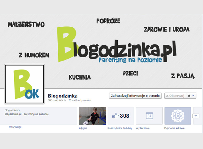 Screen z Facebooka, polubienia bloga parentingowego