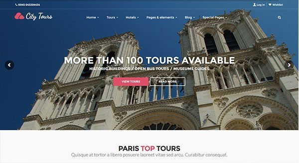 theme-wordpress-creer-site-web-vitrine-voyage-booking-hotel-reservation-tour-tarif-creation-prix