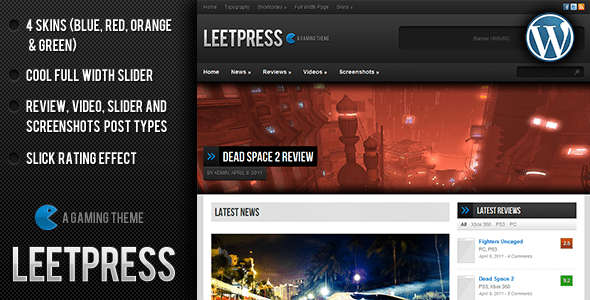 leetpress a gaming wordpress theme