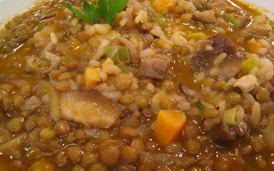Lentejas con pavo y arroz c metelo - Lentejas con costillas y patatas ...