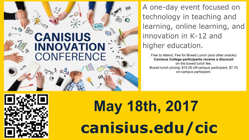 Canisius Innovation Conference: May 18th, 2017