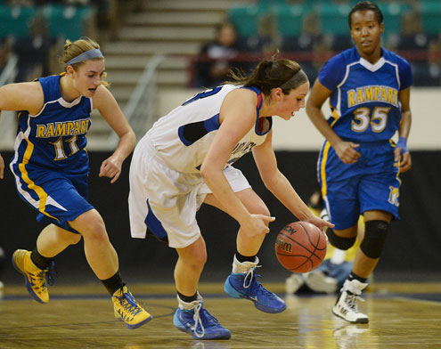 Grandview senior guard Katie Cunningham. (Karl Gehring, The Denver Post)