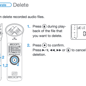Deletion instructions
