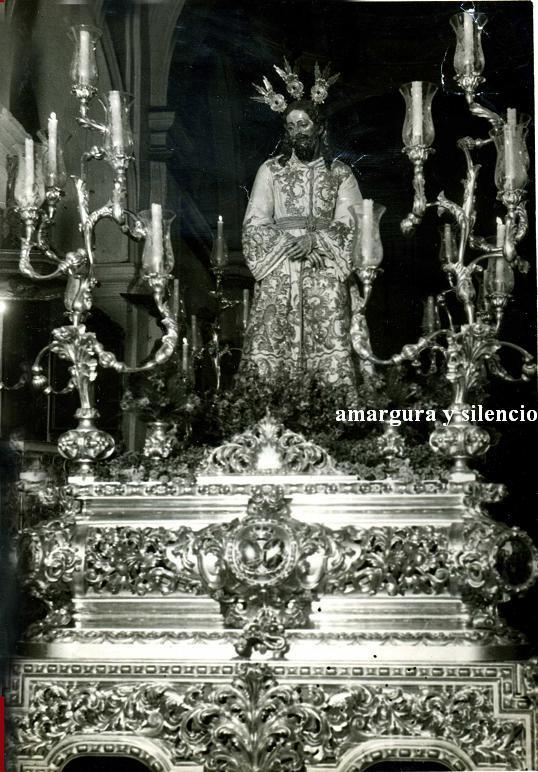 Jesus del Silencio en el paso de San Bernardo