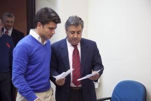 Zoido y Beltran Perez ante de su comparecencia por la dimision d