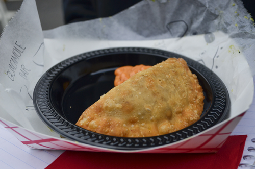 The Cheese and Beef empanada from La Tasca. Erica Christian | Contributing Photo Editor
