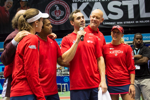 After the match, Bobby Reynolds announced that he will retire following Sunday's WTT National Championship match. Reynolds spent five years on the Kastles. Zach Montellaro | Hatchet Staff Photographer