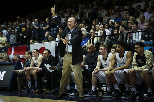 Former men's basketball head coach Mike Lonergan will seek appropriate relief for his termination, which was announced by the University Saturday. Dan Rich | Photo Editor