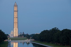 The 488 lights that have illuminated the Washington Monument since July will be turned off this Sunday. Photo used under the Creative Commons license.