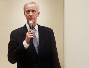 Foggy Bottom Council member Jack Evans faced off against his opponents on his home turf Tuesday. Desiree Halpern | Hatchet Staff Photographer