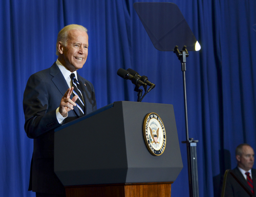 Vice President Joe Biden spoke on campus last April. File photo by Katie Causey | Hatchet Photographer