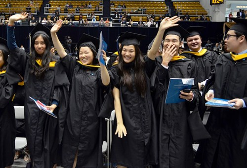 Masters of business graduates celebrated their degrees at a ceremony Thursday. Erica Christian | Photo Editor