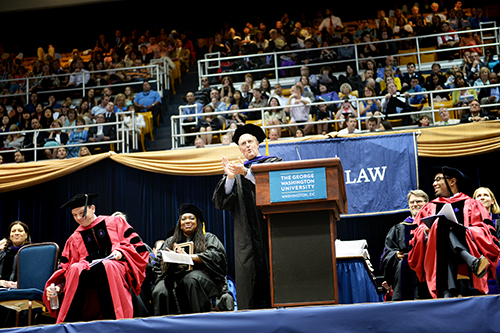 W. Bruce Sewell J.D., '86, addressed the law school's graduates Sunday. He is the general counsel and senior vice president of legal and government affairs at Apple Inc. Samuel Klein | Senior Photo Editor