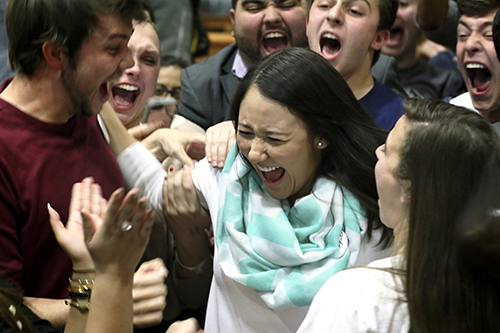 Junior Andie Dowd won the Student Association president spot Thursday with 52.6 percent of the vote. Desiree Halpern | Contributing Photo Editor