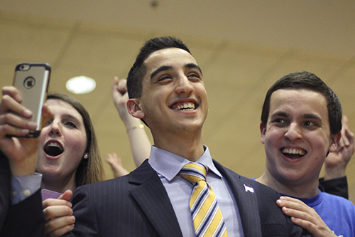 Sophomore Thomas Falcigno was one of six CCAS-U senators elected. He will serve his second term as an SA senator starting in May. Jordan McDonald | Hatchet Photographer