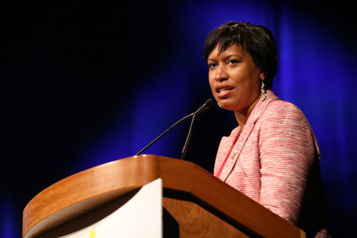 DC Mayor Muriel Bowser addressed seniors from high schools across the city. Dan Rich | Contributing Photo Editor.