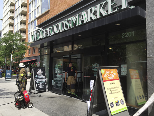 D.C. Fire and EMS responded to a pizza oven fire at Whole Foods Market Tuesday morning. Dan Rich   Photo Editor