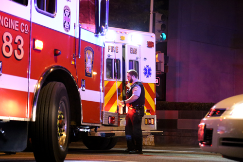 A student was struck by a car at the intersection of 20th and G streets Monday night. Keegan Mullen | Hatchet Photographer