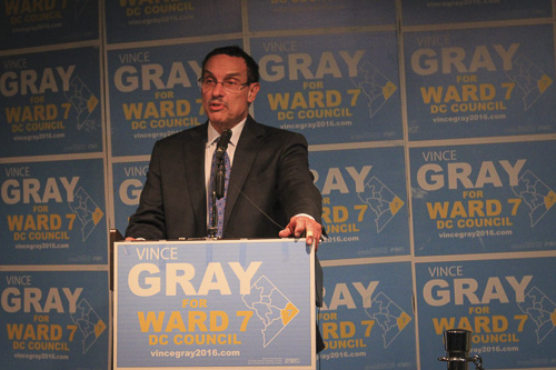 Former mayor and alumnus Vincent Gray won a D.C. Council seat on his 74th birthday. Max Wang | Hatchet Photographer